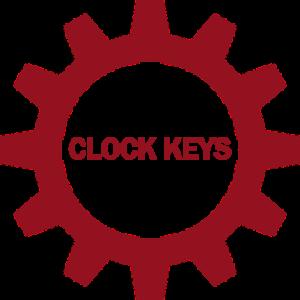 non hover clock keys button