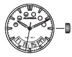 analog time on almeda watch