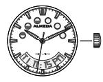 analog time on almeda watch
