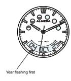 almeda watch calendar mode button