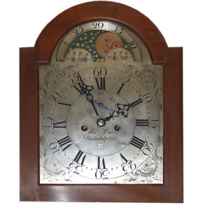 hanging wall clock with stars